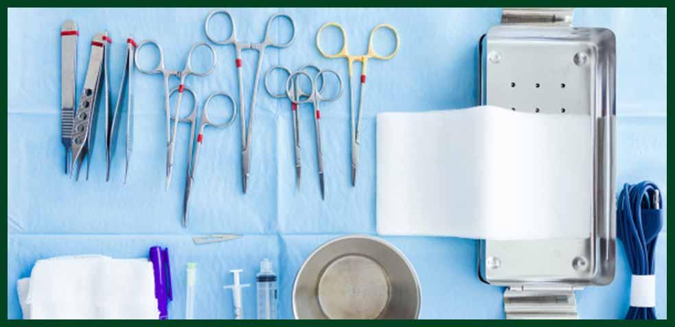 Limpieza de material quirúrgico